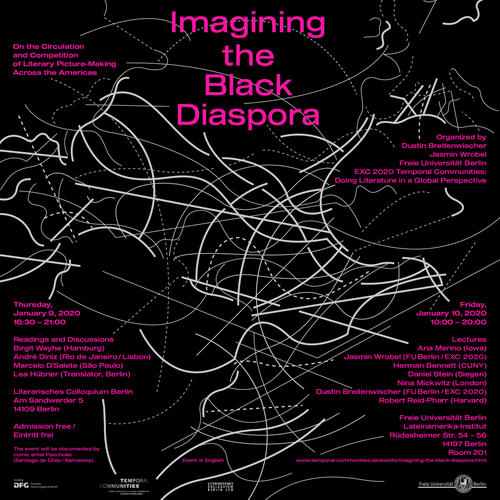 """Imagining the Black Diaspora"". Poster for the conference running 9-10 January 2020."