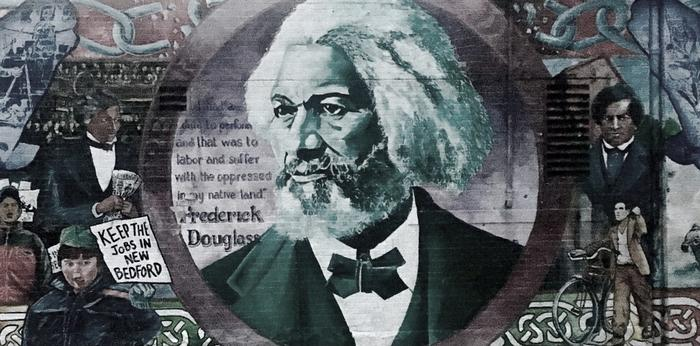 Mural of Fredrick Douglass in New Bedford