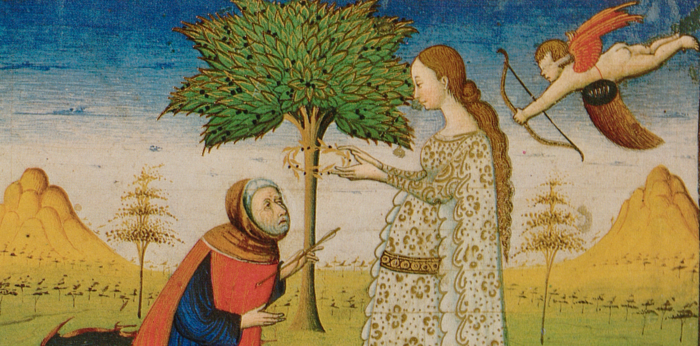 Laura crowns Petrarch